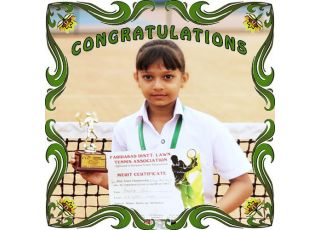 Anshika Singh of Class – II-B got Second Position in Faridabad District Lawn Tennis Championships